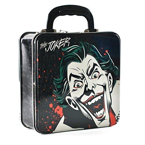 Batman Joker Kleiner Koffer, ideal für Snacks und Sanwiches, 7,5cm H Batman Metall Lunch-box