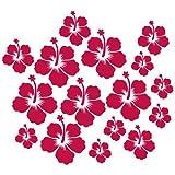 Wandkings: 16 Hibiskus Blüten im Set Wandtattoo - Farbe wählbar