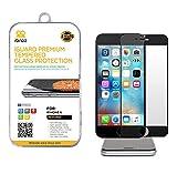 iBroz - iPhone 6 & 6S (4.7') - Protection Ecran en Verre Trempé iGUARD FULL COVER 3D Premium Anti Chocs et Casse, Anti Empreintes Digitales et Gras, Bords Arrondis, Dureté Max 9H, Haute Définition 99%, pour iPhone 6 & 6S (Fond Noir) - Couverture complète de l'écran