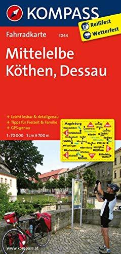 KOMPASS Fahrradkarte Mittelelbe - Köthen - Dessau: Fahrradkarte. GPS-genau. 1:70000: Fietskaart 1:70 000 (KOMPASS-Fahrradkarten Deutschland, Band 3044)