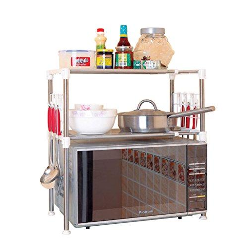 Edelstahl Mikrowelle Racks Küche Lagerregal Geschirr Ablauf Rack
