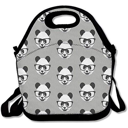 Lunchtasche mit Sonnenbrille, groß, dick, Neopren, isoliert, Kühltasche, warm, mit Schultergurt, für Damen, Teenager, Mädchen, Kinder, Erwachsene