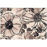 Alfombra de design dibujo flores beige y negro – alfombra alta calidad Sitap Capri 32041 – 6595