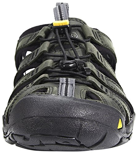 Keen Herren Clearwater Leather Cnx Sandalen magnet-black