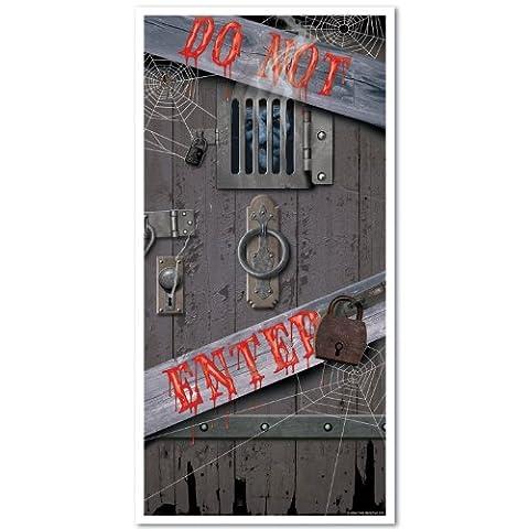 Beistle Haunted Halloween Door Cover, 30-Inch by 5-Feet