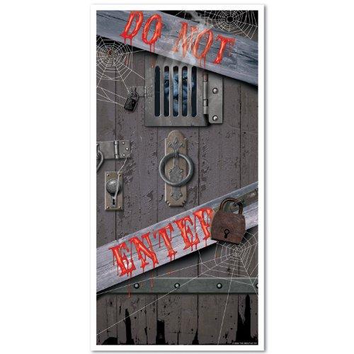 Beistle Haunted Halloween-Tür-Abdeckung, 30-Zoll durch 5-Fuß