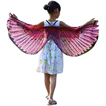 Overdose Kind Kinder Jungen Mädchen Karneval Kostüm Faschingskostüme Schmetterling Flügel Kostüm Butterfly Wing Cape Kimono Schal Cape Tuch
