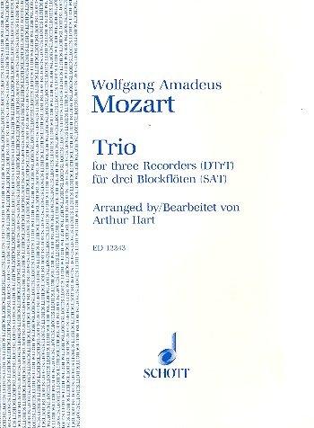 Trio: 3 Blockflöten (SAT). Spielpartitur. (Edition Schott)