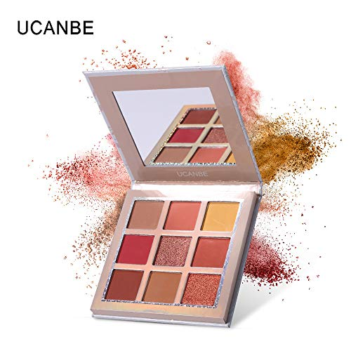 Mitlfuny Beauty Makeup,9 Farbe Wasserdichte Pinsel Lidschattenplatte Pulver Matt Lidschatten Kosmetik Make-Up