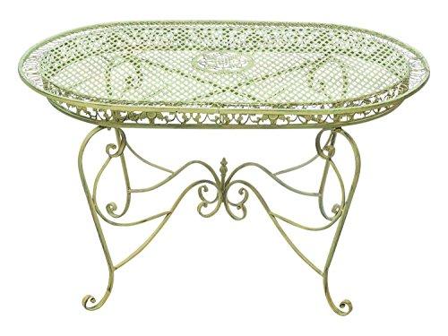 Mesa de jardín 135cm mesa de hierro forjado...