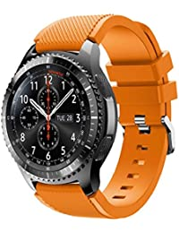 Correas para Samsung Gear S3 Frontier Sannysis Banda de pulsera de silicona deportiva color naranja