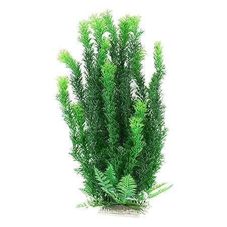 Mayitr 47cm Grün Gelb künstliche Aquarium Deko Pflanzen Wasserpflanzen Aqua Bouquet Plant