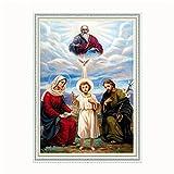 14ct 11CT Kreuzstich Diamant Stickerei DIY Malerei Strass Craft Home Decor Religion Kultur, 14ct canvas size40x60cm