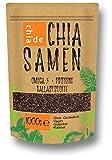 Chia Samen ChiaDE 1kg . In Deutschland gefüllt und verpackt.