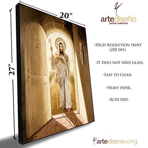 Artediseño piezas maestras Kunstdruck, Motiv: Jesus Knocking at My Door (englischsprachig), 50,8 x 68,6 cm