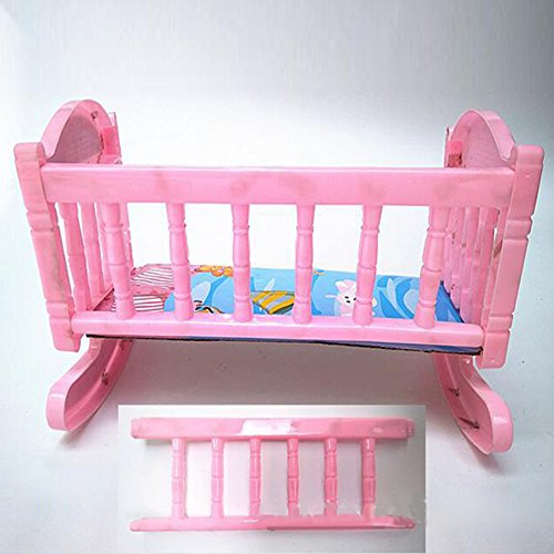 LanLan Puppe Mini Cradle Bett HEI?es Verkauf Produkt Puppe Rosa Schaukel Bett Schlafen Bett Puppe Kunststoff Zubeh?r Spielzeug Bett f¨¹r Kinder