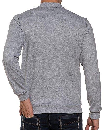 BLZ jeans - Man Sweat Reißverschluss gesteppt grau efffet Grau