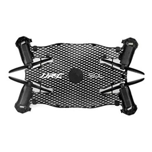 MeterMall RC Drohne JJRC H49 Ultrad¨¹nne Drohne HD Wi-Fi-Kamera mit Live-¨¹bertragung und Beauty-Modus 1-Key Return Altitude Control Kompatibel mit iOS und Android Black (Export Edition)