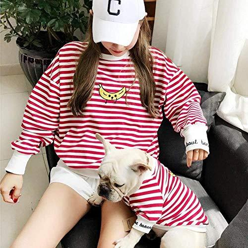 ZLALF Eltern-Haustiere-Strip Kleidung Haustiere Besitzer Und Haustiere Haushaltskleidung Outfits Kostüme Für Kleine Hunde Katze Und Mama Für Hunde Und Katzen Shirt,L-and Parent (Kostüm Für Haustiere Und Besitzer)