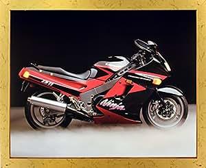Kawasaki Ninja Zx11 Ron Kimball moto Cadre photo Doré Art Print (18/22)