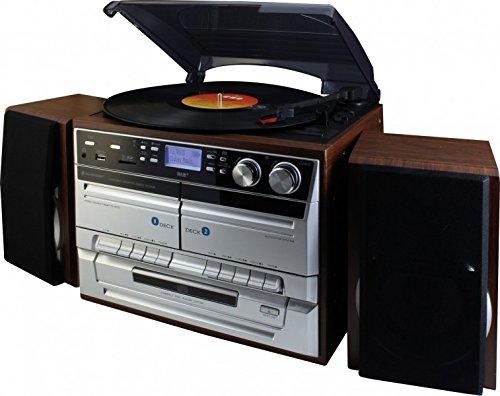 Soundmaster MCD5500SDBR DAB+ Radio Doppelkassette CD Plattenspieler USB Encoding