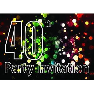 40th Theme Birthday Party Einladungen Einladungen Kinder Erwachsene Männer/Frauen