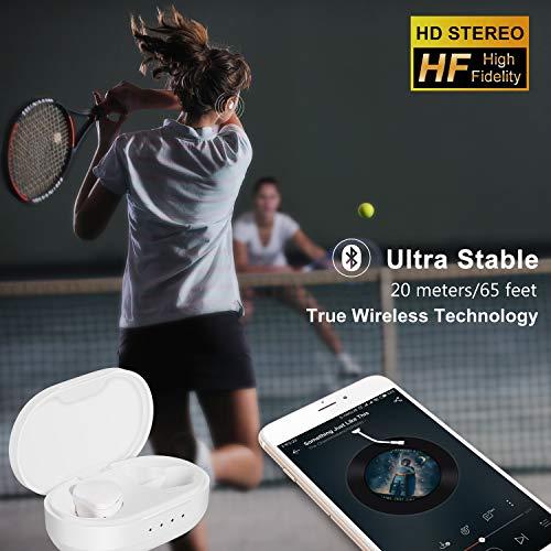 Kabelloser Ohrhörer, Fantany Bluetooth 5.0 wirkliche kabellose Stereo Kopfhörer im Ohr wasserdicht Headset mit Ladehülle Mini eingebautes Mikrofon und Lärmfrei Ohrhörer für Android & iPhone - 2