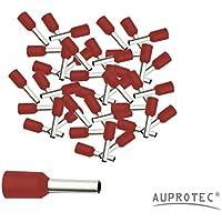 Puntalini isolati 0,34 - 50 mm² Terminali a Bussola 10 - 1000 pezzi selezione: (100 pezzi, 1.5 mm² rosso)