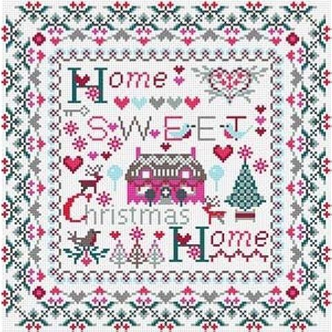 Natale Home Sweet Home Punto Croce