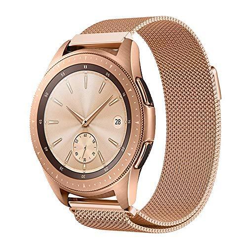 ProCase Bracelet de Remplacement pour Samsung Galaxy Watch Active (40mm), Galaxy Watch (42mm), Gear Sport, Gear S2 Classic, Bracelet en Acier Inoxydable avec Aimant pour Smartphone-Or Rose, Petit