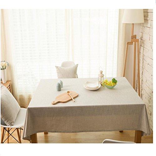 Erica Japanische Baumwolle, uni Pastoral Tischdecken GRAY-90130 grau