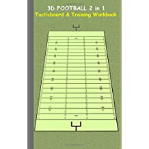 3D Football 2 in 1 Tacticboard and Training Book: Tactics/strategies/drills for trainer/coaches, notebook, training, exercise, exercises, drills, ... tactic, competition, match, bestseller