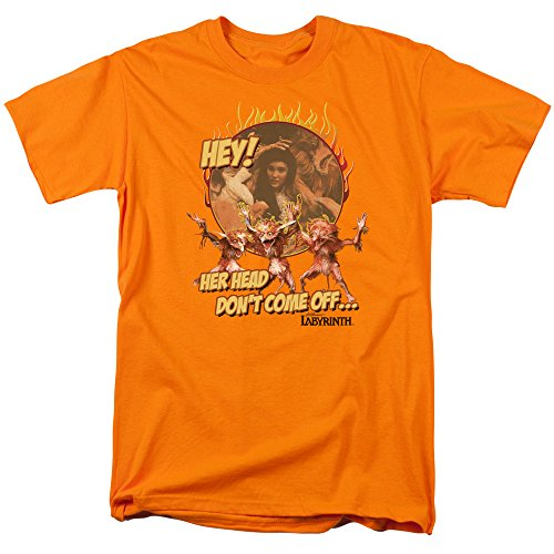Labyrinth Movie Head Don't Come Off Adult T-Shirt Tee