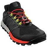 adidas  Adistar Raven Boost M, Herren Laufschuhe, Multicolor - Schwarz / Rot / Weiß / Lima - Größe: 47 1/3