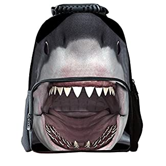 Moin tiburón mochila de lo estudiante de mochila de deportes al aire libre bolso de Viajes Ocio