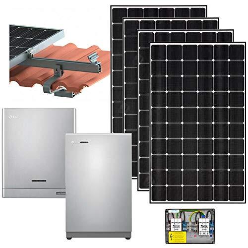 LG Photovoltaikanlage 4,83 kWp Ausrichtung: Süd - Stromspeicher Wechselrichter Solarmodul NeON Aufdachmontagesystem