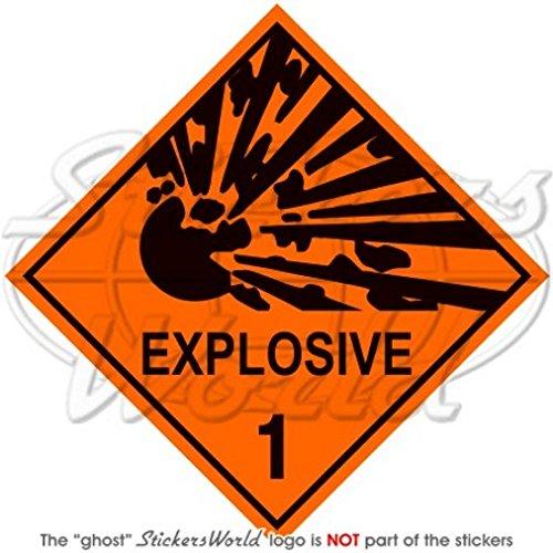 Explosive Explosion Danger Avertissement signe de sécurité 10,2 cm Sticker en vinyle (100 mm), en