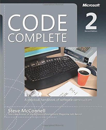 Code Complete, Second Edition..