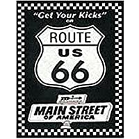 RUTA 66 GET YOUR KICKS Letrero de metal (ST)
