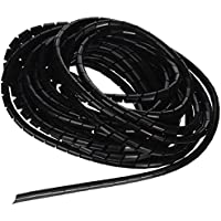 6mm Diámetro Exterior 6.4M PE Polietileno Cable Espiral Abrigo Del Alambre Tubo Negro