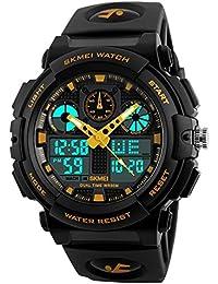 SKMEI Analog-Digital White Dial Men's Watch-1270 Yellow