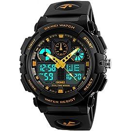 SKMEI Analog Digital White Dial Men\'s Watch 1270 Yellow