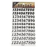 Tattoo schwarz Zahlen 10 Reihen 0-9 diverse Schriftarten Schreibstile temporär Klebetattoos