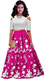 #7: Amiga Girl's Party Wear Tapeta Semi Stitched Free Size Lehenga Choli, Salwar suit, Gown (8-12 Year Girls)