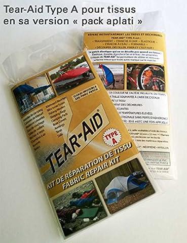 Pack de réparation de tissu Tear-Aid Type A - Instantané, permanent et quasi-invisible