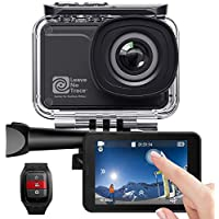 AKASO V50 Pro SE Action Camera, 4K/60fps Touch Screen WiFi EIS 39m Waterproof Camera, Adjustable View Angle Remote Control Sports Camera with Helmet Accessories Kit (Limited Edition)
