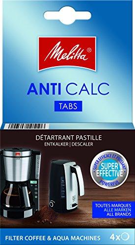 Melitta 105106 Anti Calc Filter Kaffee und Aqua-Maschinen, 4 x 12 g -