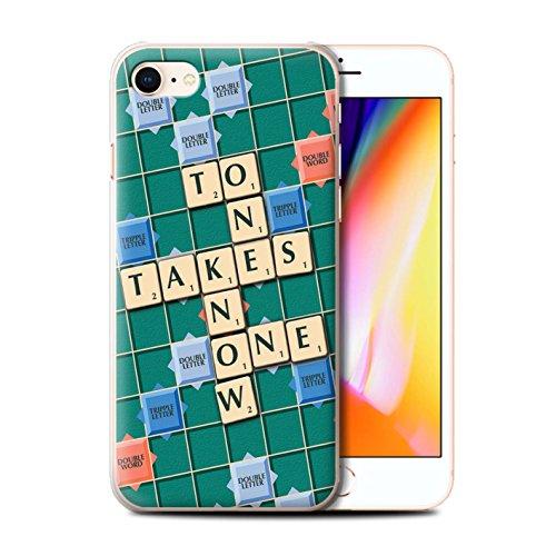 Stuff4 Hülle / Case für Apple iPhone 8 / Schmerz Gewinn Muster / Scrabble Worte Kollektion Kennen