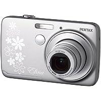 Pentax Efina Digitalkamera (14 Megapixel, 5-fach opt. Zoom, 6,4 cm (2,5 Zoll) LCD-Display, Live View, HD) silber
