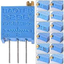 XCSOURCE 60Pcs / Lot 3296W Multiturn Trimmer potenziometro Kit alta precisione variabile resistore 500R 500K 100K 2K 100R 200R 5K 10K 1K 50K 20K 200K TE236